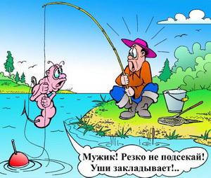 Червяк мужику: